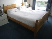 King size, solid pine bedframe