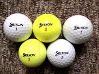 5 Srixon ZSTAR golf balls in immaculate condition, 3 piece high performance balls normally £3 a pop