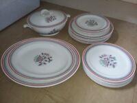 1950's grindley fantasia dinner service plates etc