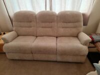 Sherborne 3 seater sofa and reclining chair