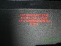 SAFE FIRE Resistant