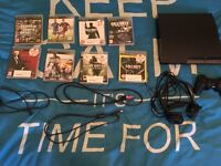 PlayStation 3, 1 controller, all the wires and Job lot of games
