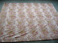 Floral Curtains - 1 pair for large wide window 54cm drop 13ft wide each curtain