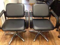 2x Adjustable Backwash / Salon Chairs - Crewe Orlando Jamaica - Hydraulic - Hairdressing