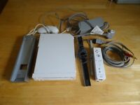 Nintendo Wii set up , box , cables , controller