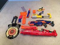 Nerf guns and target