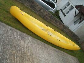 14ft triple kayak canoe DAG