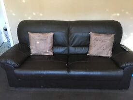 3&2 seater brown sofa need gone asap