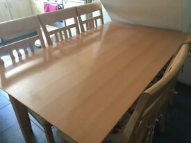 Dining table n chair for sale