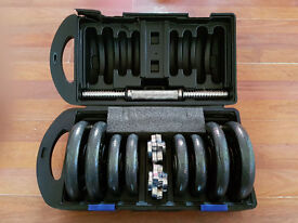 Maximuscle Cast Iron Dumbbell Set with Carry Case - 20kg And A Pull Up Bar