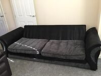 4 seater sofa with scatter cushions