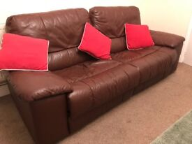 Sofa - leather 3 seater recliner