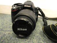 Nikon D D5100 16.2MP Digital SLR Camera - Black (Kit w/ VR 18-55 mm Lens)