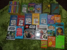 LARGE SELECTION OF CHILDREN'S BOOKS INCLUDING HORRID HENRY, WIMPY KID IN GOOD CONDITION