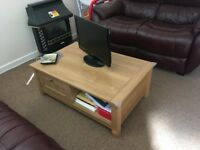 Coffee Table with Storage 2 Drawers REDUCED Now £50