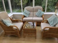 Cane conservatory furniture, excellent condition