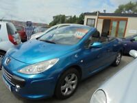 PEUGEOT 307 CC 1587cc S CONVERTIBLE 2005-55, LOOK ONLY 96K FROM NEW AND 2 FORMER KEEPERS