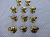11 OLD SOLID BRASS DRAWER/CUPBOARD KNOBS