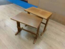 Study table set small - solid pine wood