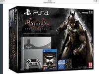 As new all boxed limited edtion batman ps4 console with pad and games show all working. £250 Ono