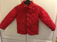 Children's Benetton quilted jacket aged 4-5 years