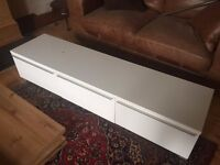 Low TV Unit - Habitat White Gloss - minor damage