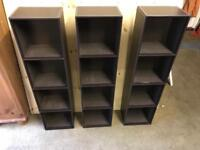 Leather effect DVD storage towers