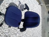 RH Logic 3 Chair Back Ergonomic Office Chair Blue lumber support