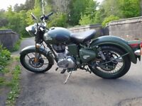 Royal Enfield Classic 500 Euro4 Battle Green 2017