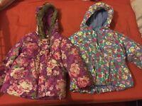 Girls coats 2-3 yrs - x3