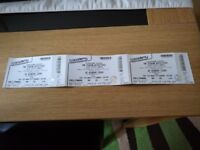 3 standing tickets for the pigeon detectives leeds 02 academy 3/11