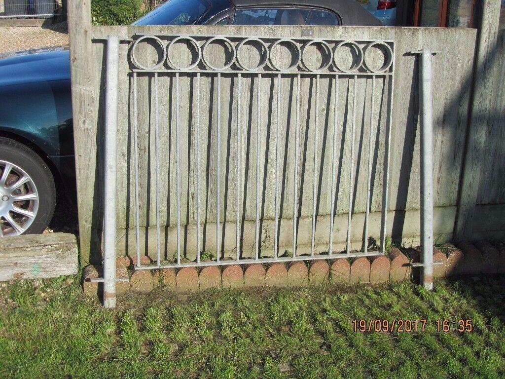 Galvanised steel ex balcony railings. overall length 8.3 metres.