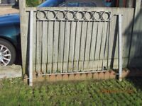 Galvanised steel ex balcony railings. overall length 8.3 metres.