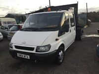 54 reg ford transit 350 lwbase crewcab Tipper in vgc lovely driver ready for work Tipper crewcab