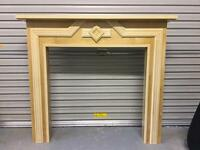 Wooden fire surround