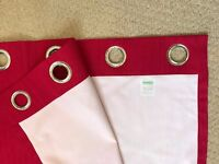 NEW - LARGE RED BLACKOUT EYELET CURTAINS £22