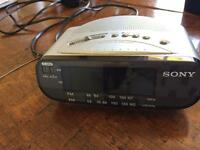 Sony clock radio alarm clock