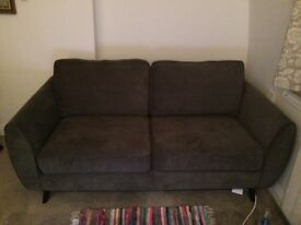DFS Aurora 3 seater sofa Graphite ONLY A MONTH OLD