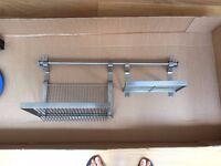IKEA kitchen rail and racks