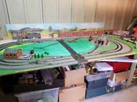 Hornby train set layout
