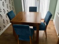 Fantastic condition Harvey's Toulouse flip top extendable dining table and 4 chairs