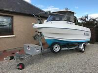 Quicksilver Pilothouse 500 Fast Fisher Cabin Speed Fishing Boat