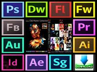 Adobe Photoshop / Illustrator / InDesign / Premier Pro for Windows / Macbook / Imac