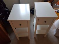 2 x Bedside Tables and Lamps