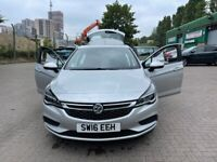 2016 VAUXHALL ASTRA 1.4 PETROL MANUAL 5 DOORS LOW MILES WITH FULL SERVICE HISTORY