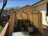 Canvas 8x10 portable storage shed