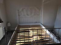 White IKEA bed
