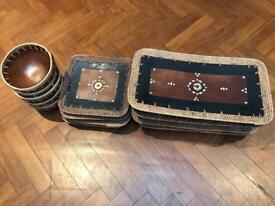 Balinese plates and bowls