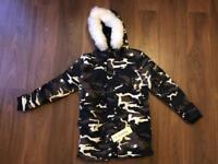 Unisex camo parka jacket