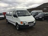Ford transit 15 seater minibus only 45000 genuine mileage long mot in vgcondition drives as new